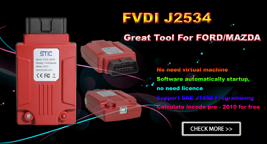 FVDI J2534 VCI FVDI J2534 Diagnostic Tool For Ford And Mazda