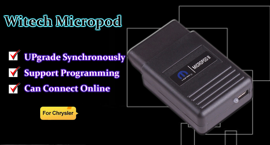 Witech Micropod ii VCI For Chrysler Witech Micropod 2 Clone